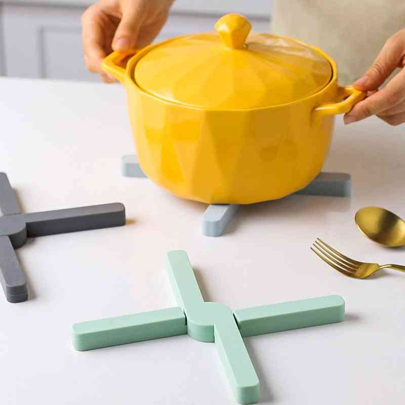 Foldable Silicone Pad Potholder Table Mat Household