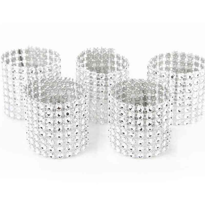 10pcs Gold Silver Napkin Ring Chairs Buckles