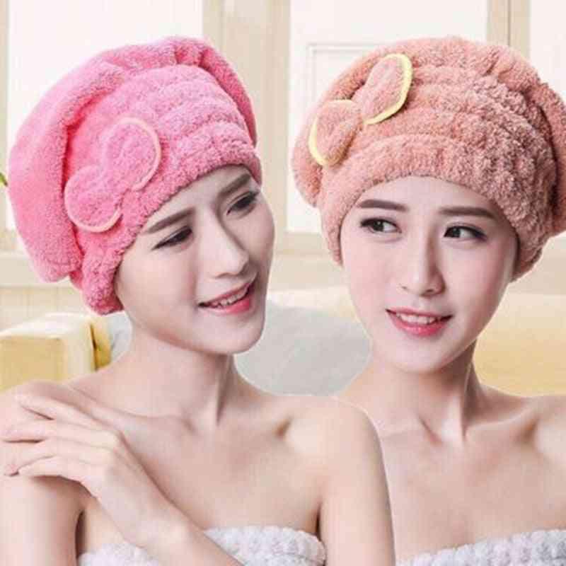Coral Velvet Quick Hair Drying Hat