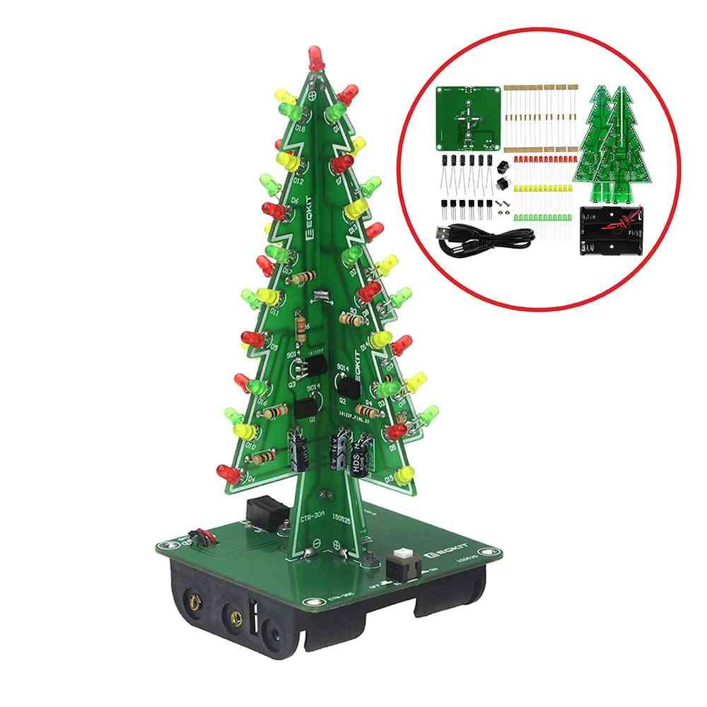Three-dimensional 3d Christmas Tree Led Diy Kit
