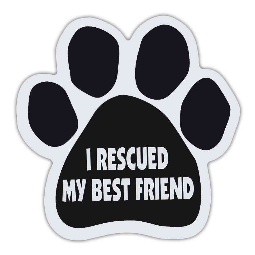 Paw Magnet - I Rescued My Best Friend