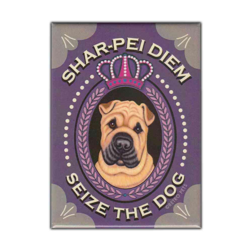 Magnet, Refrigerator Magnet, Shar-pei Diem, Shar Pei Dog, Vintage