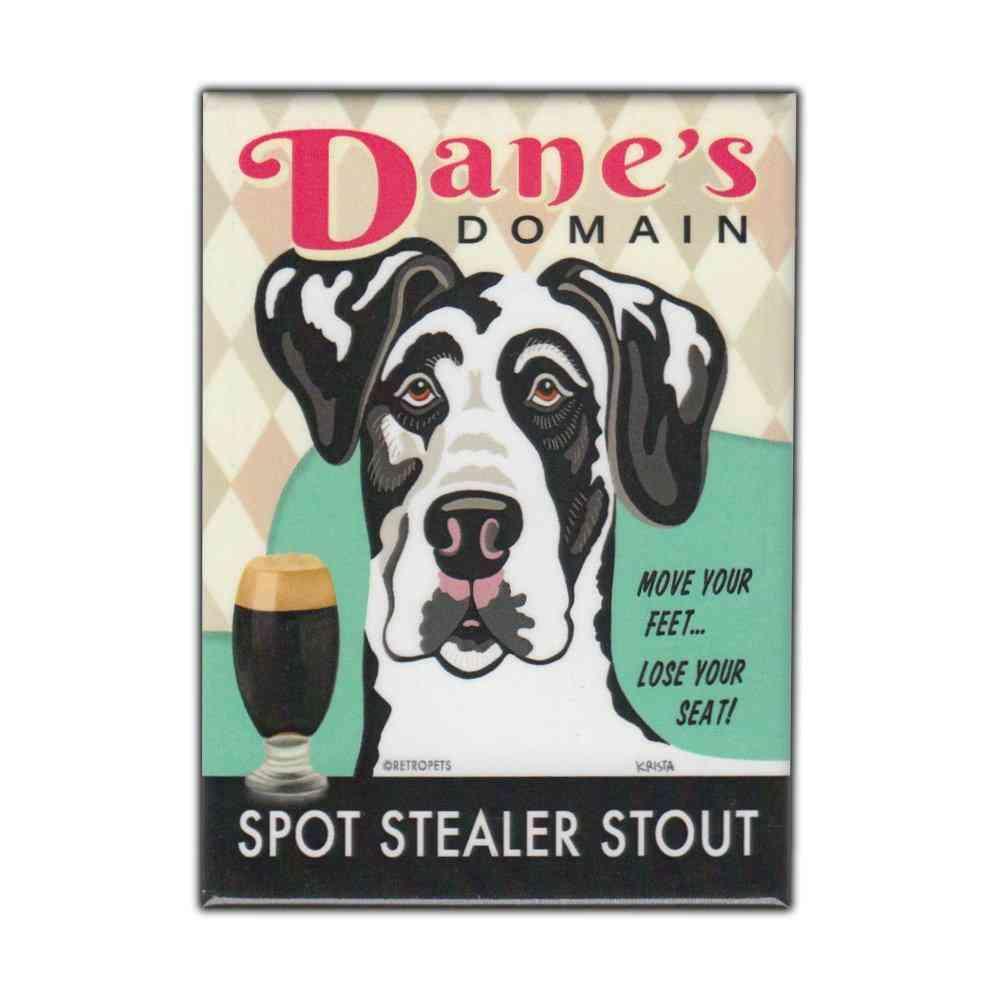 Magnet, Refrigerator Magnet, Dane's Domain Stout, Great Dane Dog