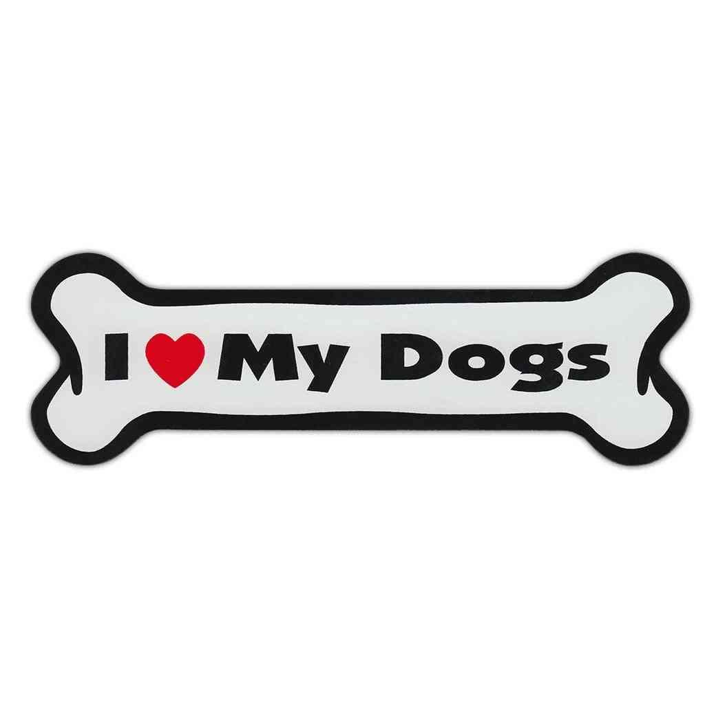 Magnet, Dog Bone, I Love My Dogs, 7