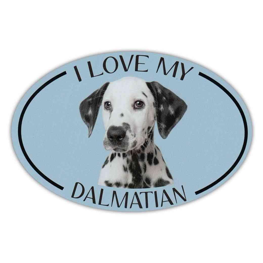 Magnet, Oval, I Love My Dalmatian, 6