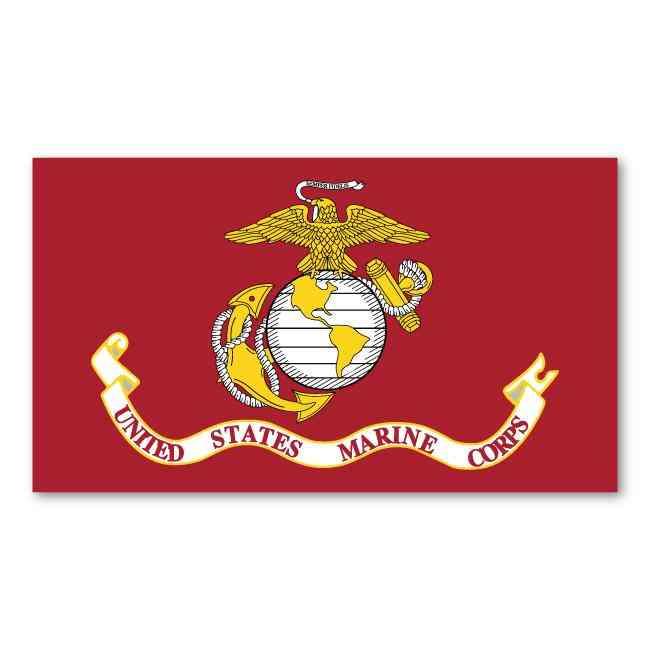 Magnet, Usmc Flag, United States Marine Corps, 7