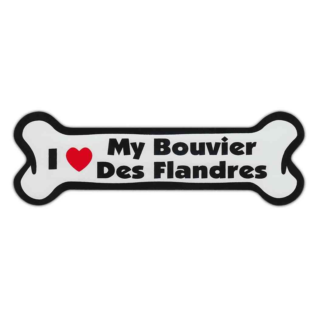 Magnet, Dog Bone, I Love My Bouvier Des Flandres, 7