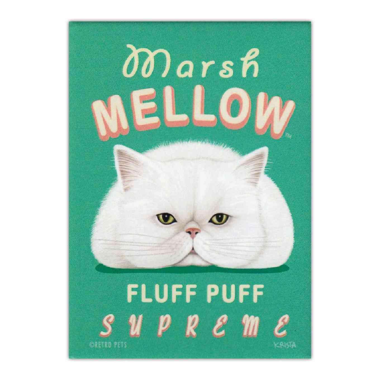 Magnet, Refrigerator Magnet, Marsh Mellow Fluff Puff Supreme, 2.5