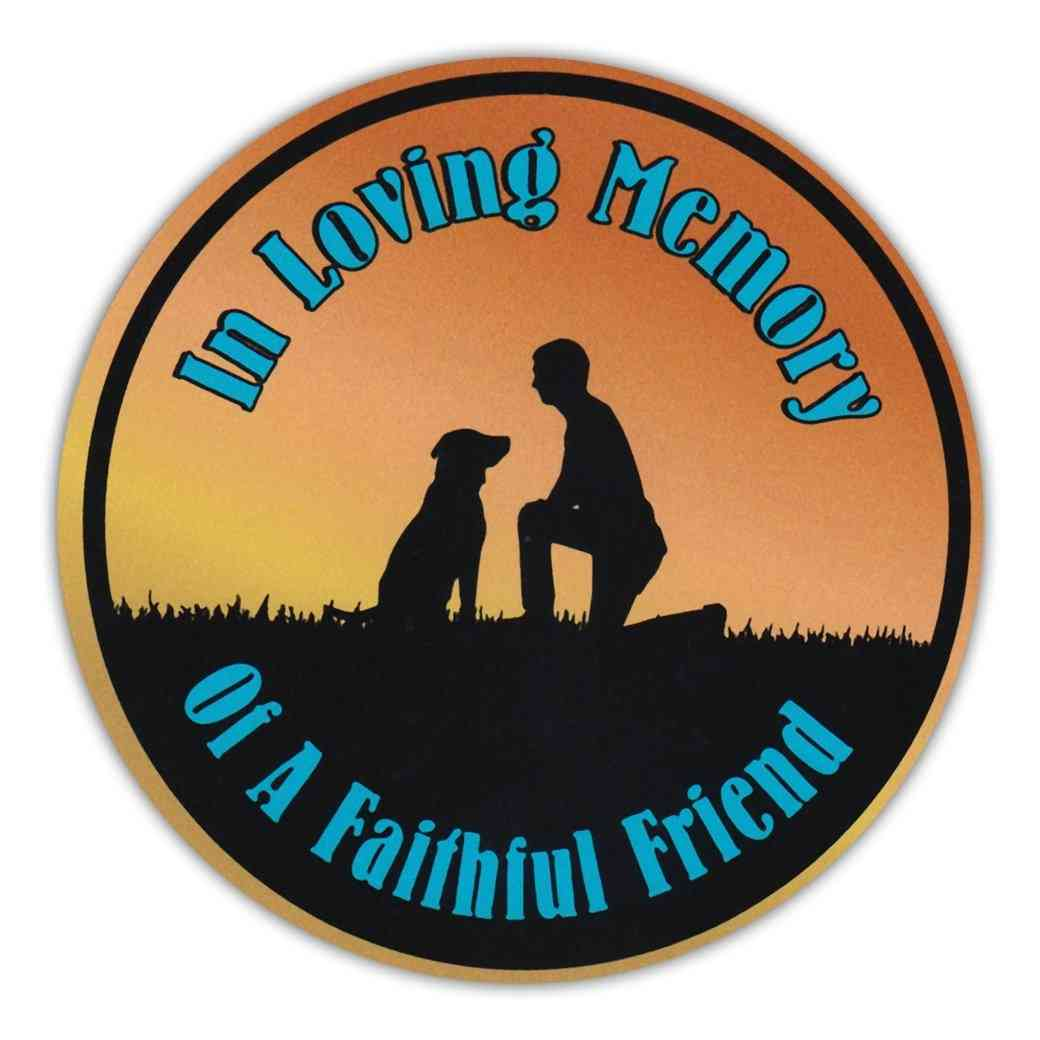 Magnet, Round, In Loving Memory Of A Faithful Friend, 4.75