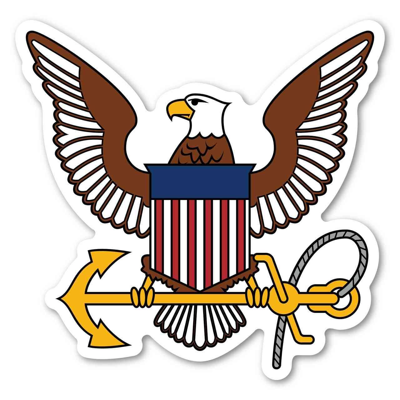 Magnet, United States Navy Logo Magnet, Usn, 4.75