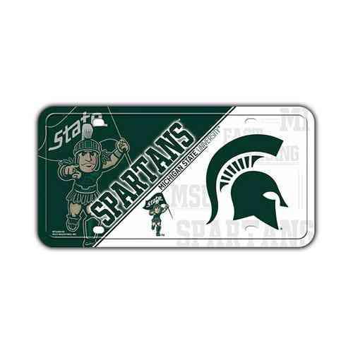 License Plate, Metal Vanity Tag Cover (embossed), Michigan State