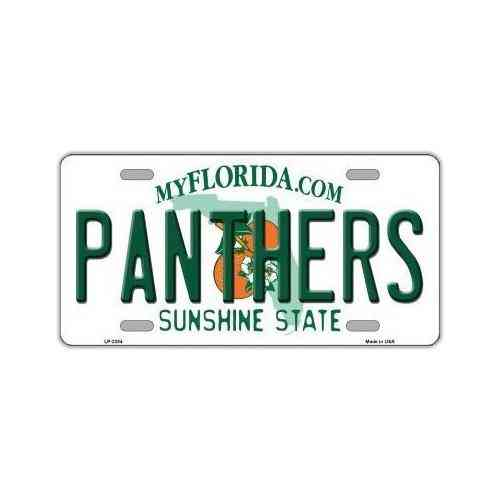License Plate, Metal Vanity Tag Cover, Florida Panthers, 12