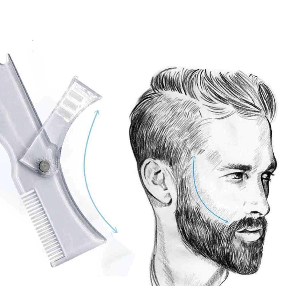 New Arrivals Men Beard Shaping Styling Template Comb