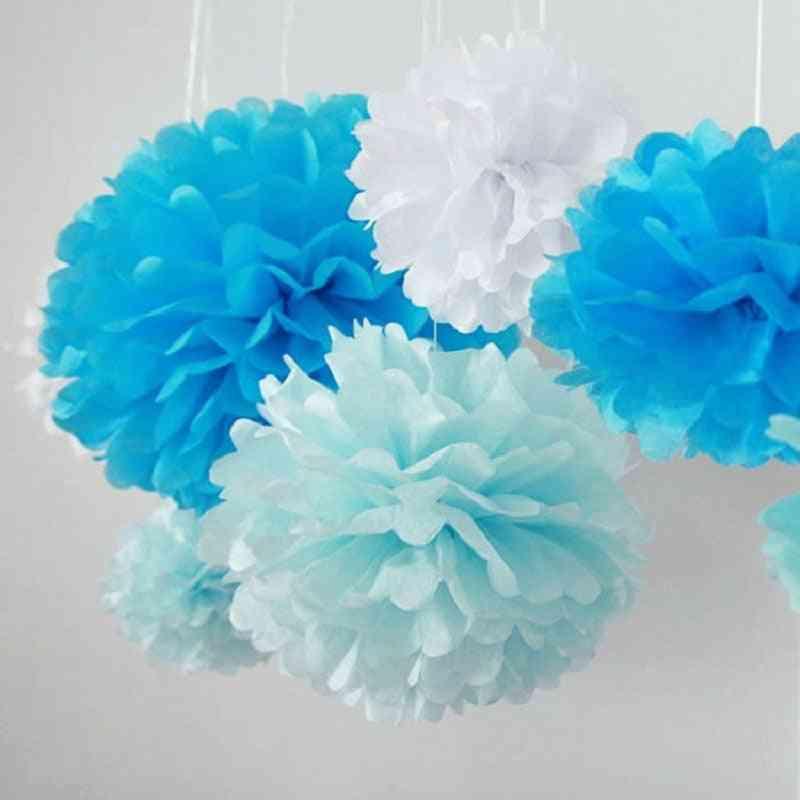 Tissue Paper Pompoms Wedding Decorative Paper Flowers ( Set 2)