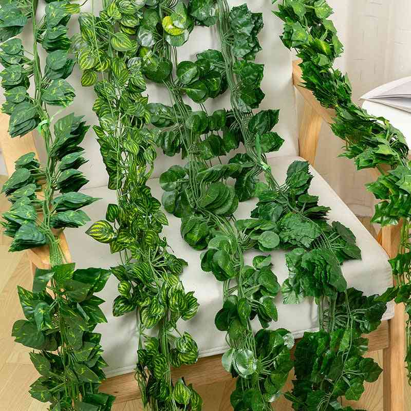 Vine Artificial Flower Air Conditioning Loft Fence Winding Green Leaf