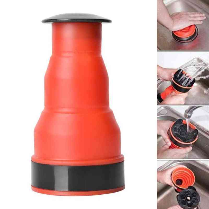 Drain Blaster Pump Sink Plunger Pipe Clog Remover Cleaning Tool