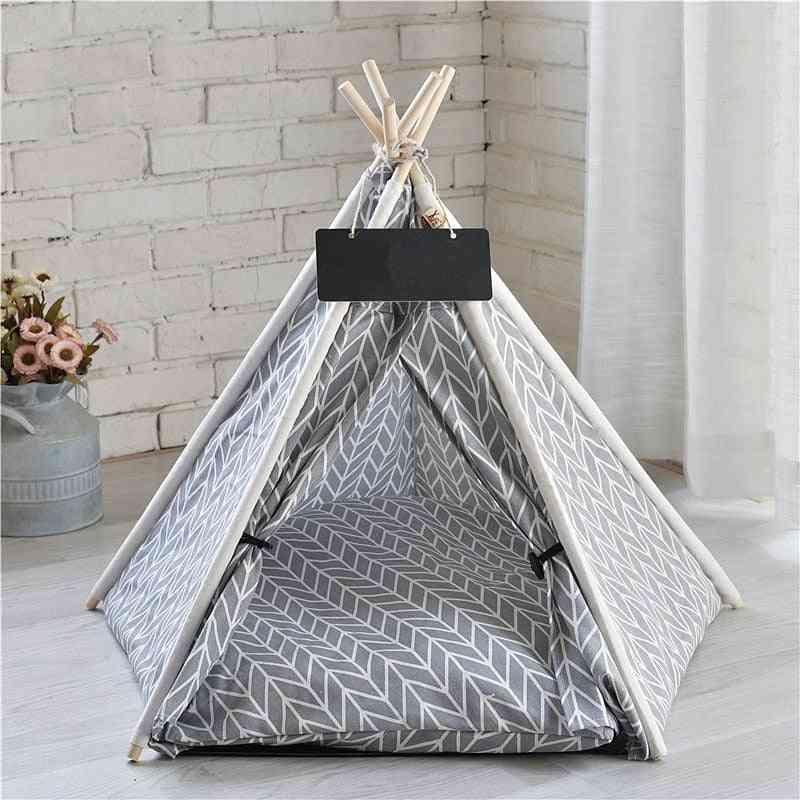 Portable Linen Pet Tent Dog House