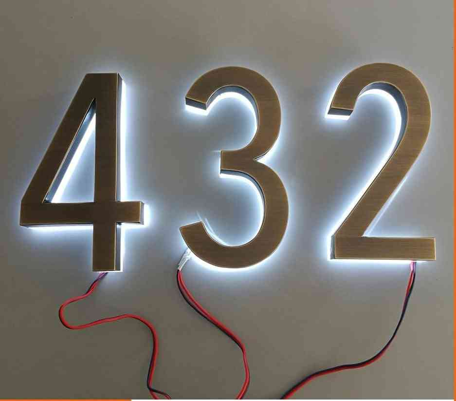 Classic Design Led House Numbers