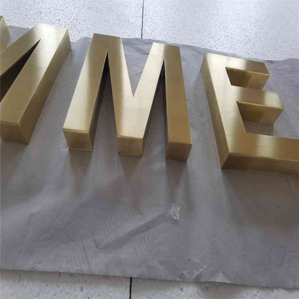 Factory Outlet Outdoor Plating Metal Logo Signs