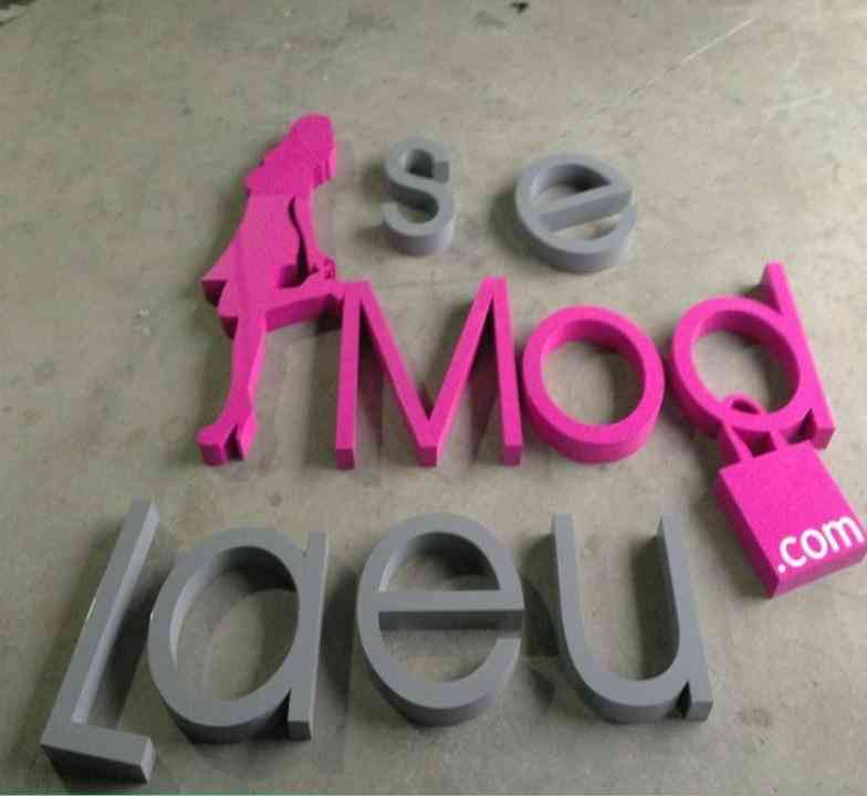 Factory Outlet Outdoor Galvanized Sheet Letters With Painting