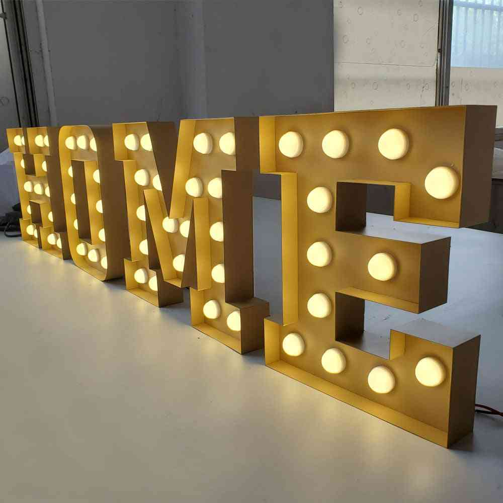 Popular Vintage Outdoor For Retail Marquee Letter Led Lights
