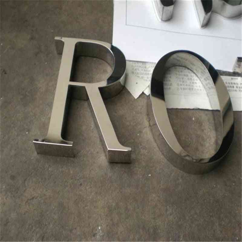 Factoy Outlet Outdoor Polished Stainless Steel Letters