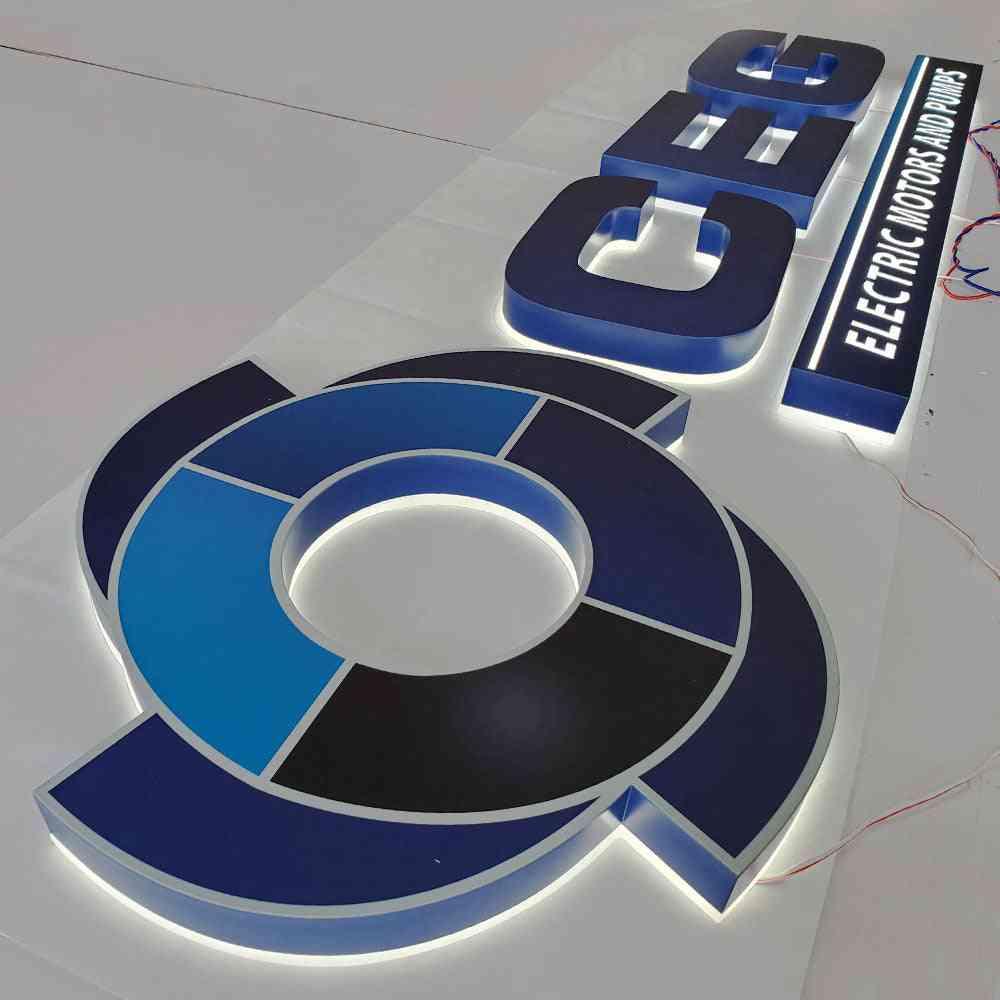 3d Uv Print Backlit Matt Stainless Steel Channel Letter Paint Coated