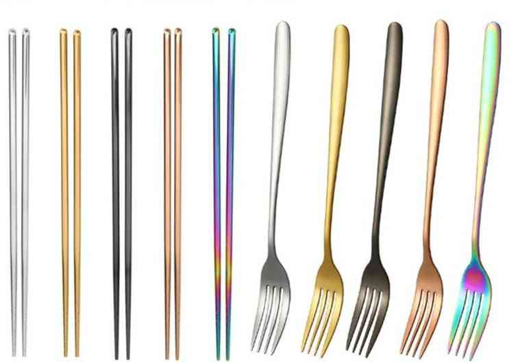 Slip Chinese Stainless Steel Reusable Metal For Food Sticks Tableware Kitchen Tool