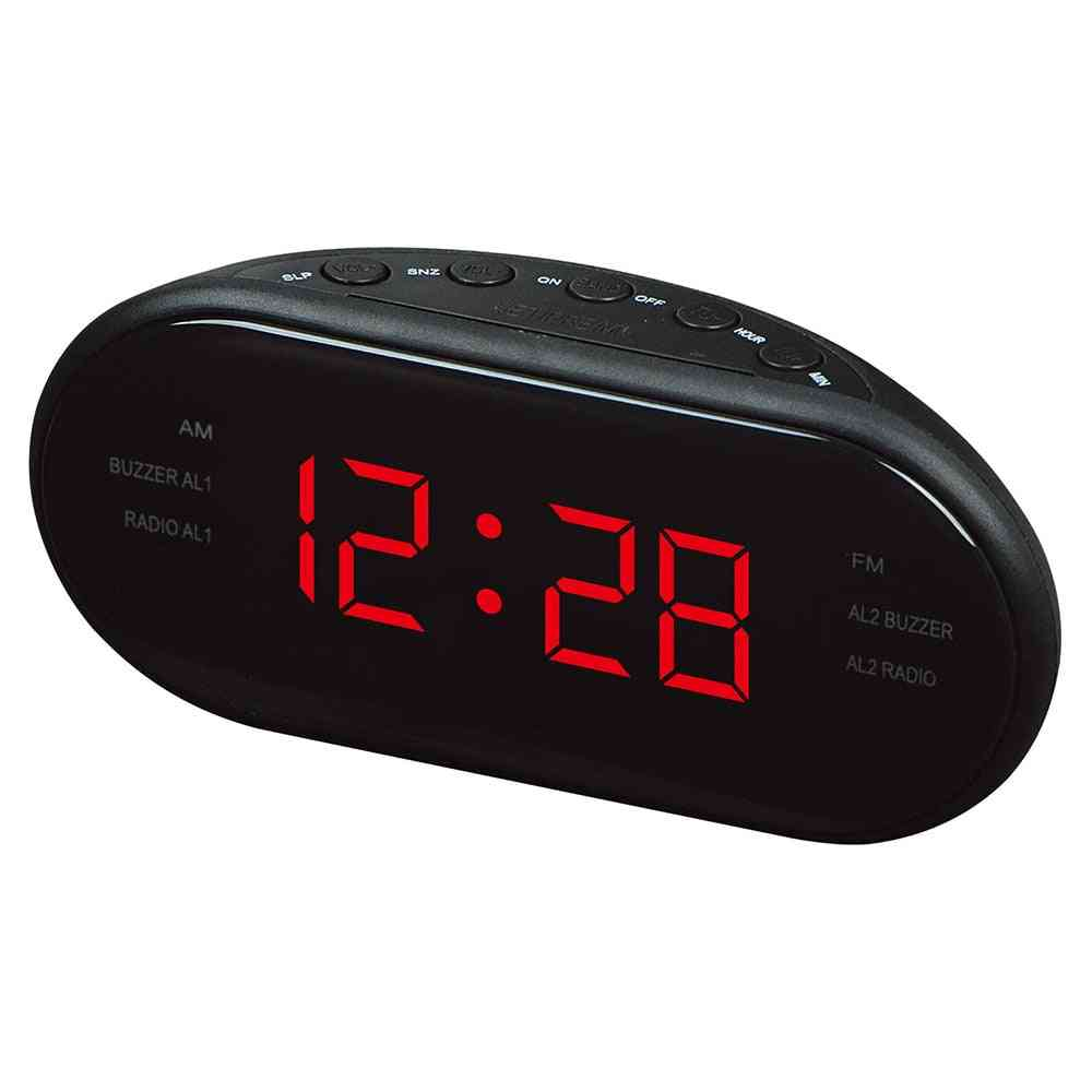 Led Desktop Alarm Clock In Digital Table Radio
