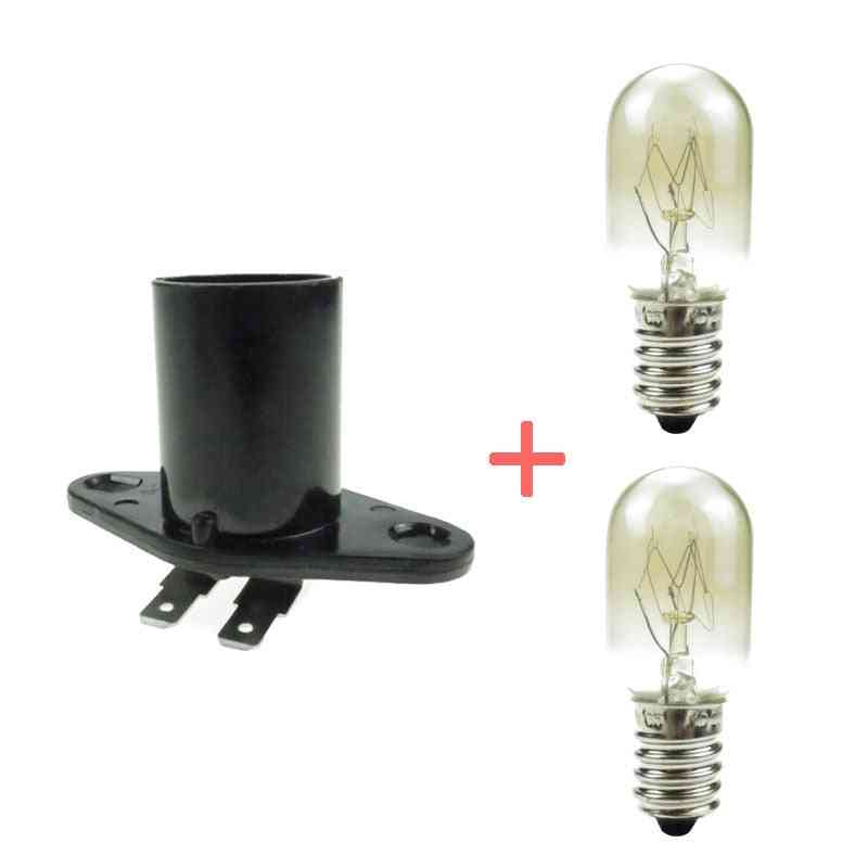 Base Microwave Light Bulb, Lamp Spare Parts For Oven Accessories, Kitchen Appliance Parts