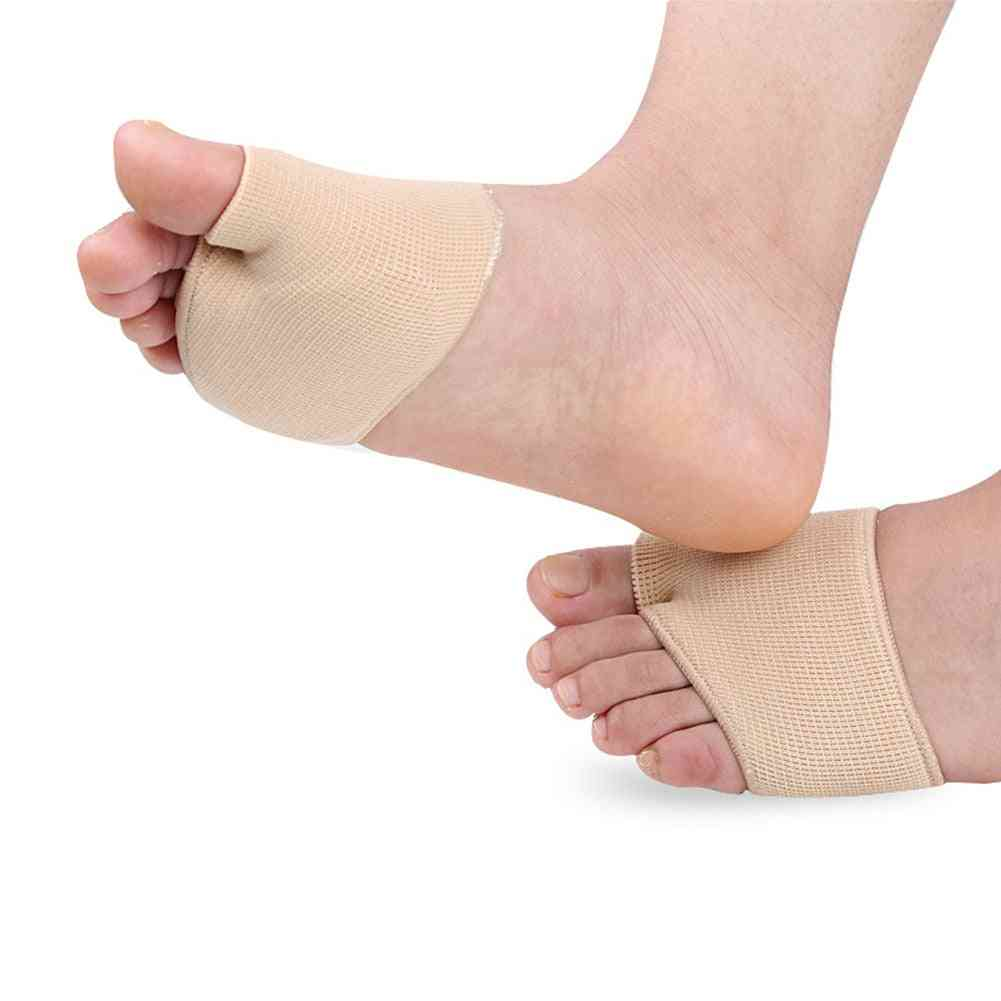 1 Pair Fabric Gel Metatarsal Ball Of Foot Insoles Pads Cushions Forefoot Pain Support