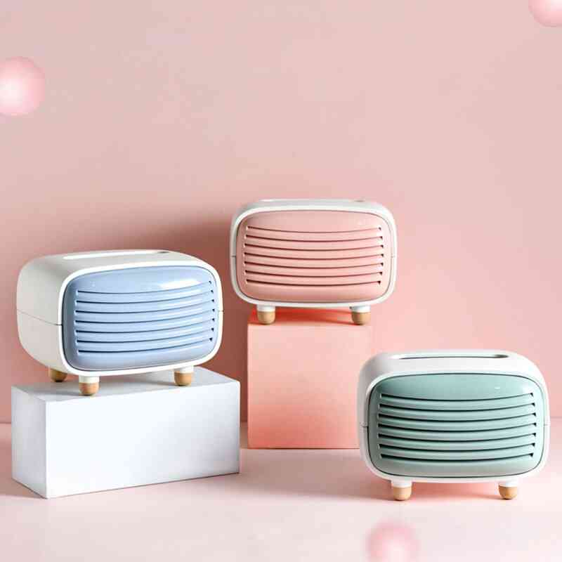 Cute Mini Radio Shape Stand Tissue Holder Container