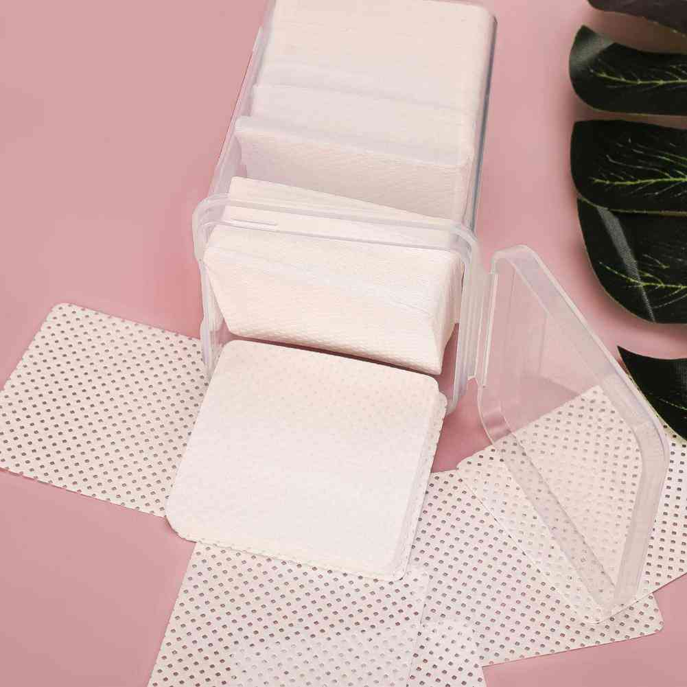 Smooth Adhesive Remover Cotton False Eyelash Cleaner Paper