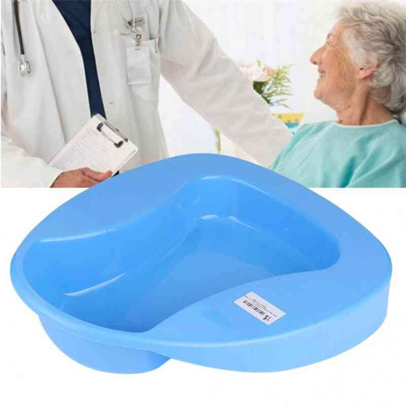 Plastic Stable Bedpan, Heavy Duty Smooth For Bed-bound Patient Diaper