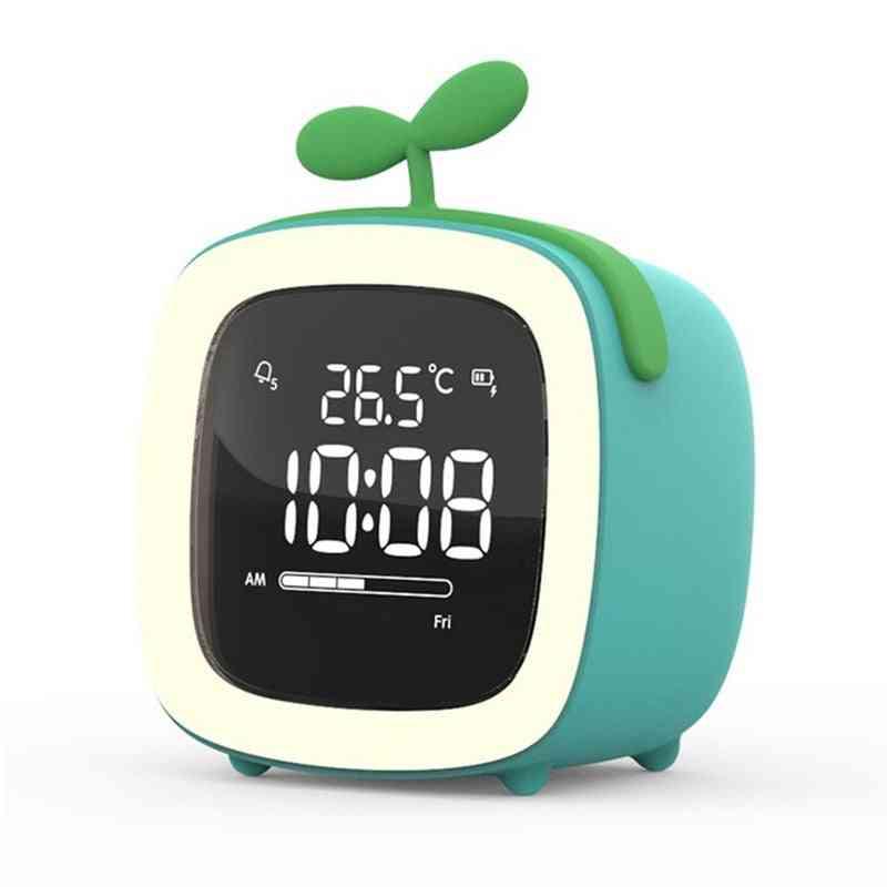 Cartoon Night Light Desk Alarm Clock
