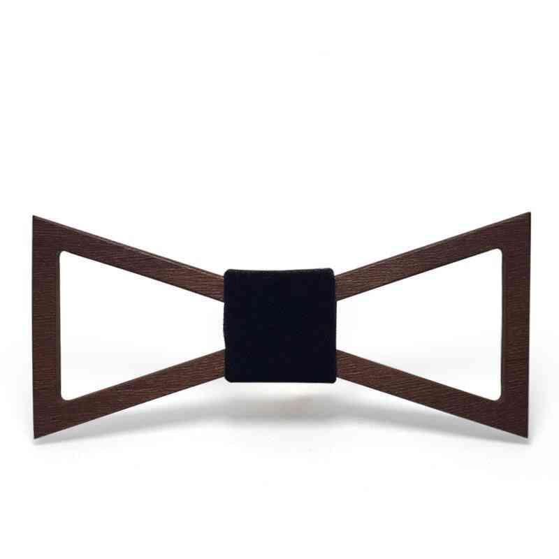 Fashion Handmade Wood Bow Ties Geometric Wooden Bow Tie