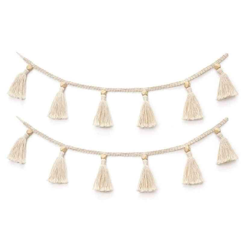 Handmade Woven Tassel Garland