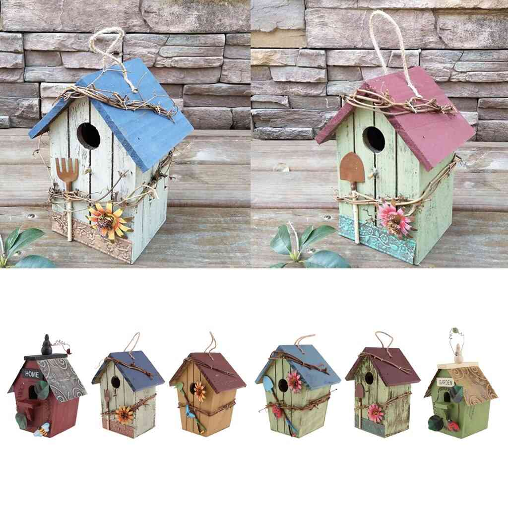 Decorative Bird House With Flower