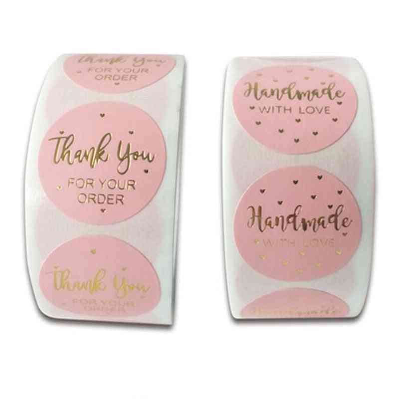 Round Labels Handmade Kraft Paper