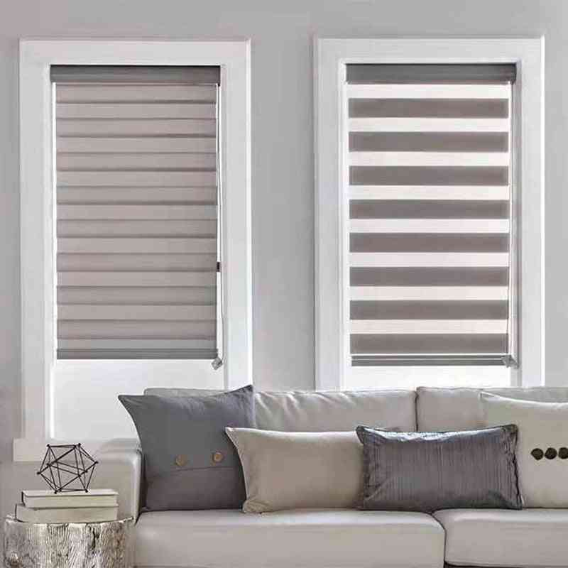 Light Filtering Dual Fabric Day Night Roller Double Layer Sheer Zebra Blind Shades