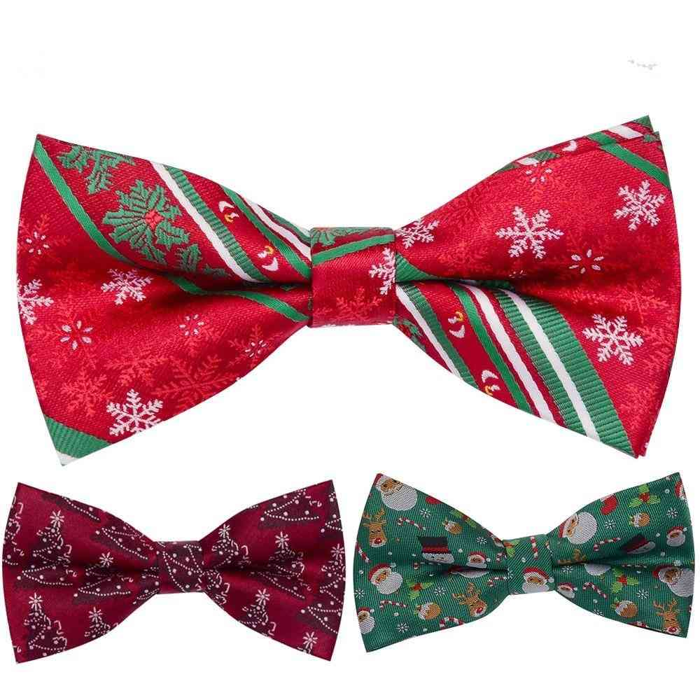 Snowflake Santa Claus Jucquard Bowtie