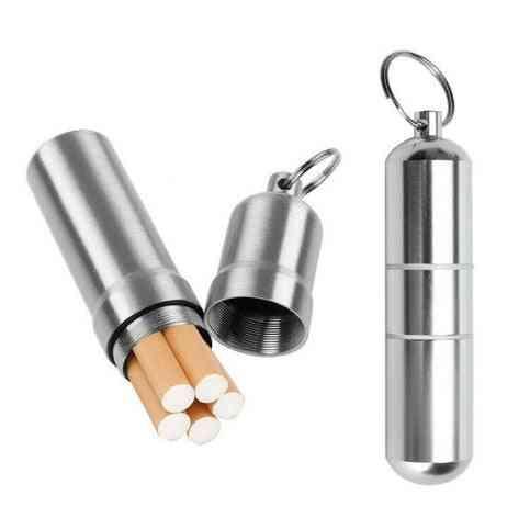 Silver Aluminum Alloy Cigarette Box