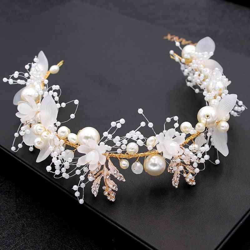 Bride Wedding Hair Accessories, Flower Headbands