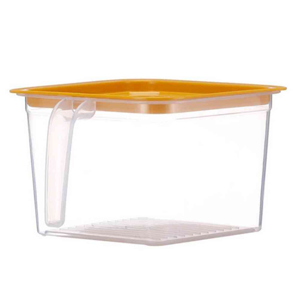 Refrigerator Organizer Food Storage Container With Lid Handle Fresh-keeping Box
