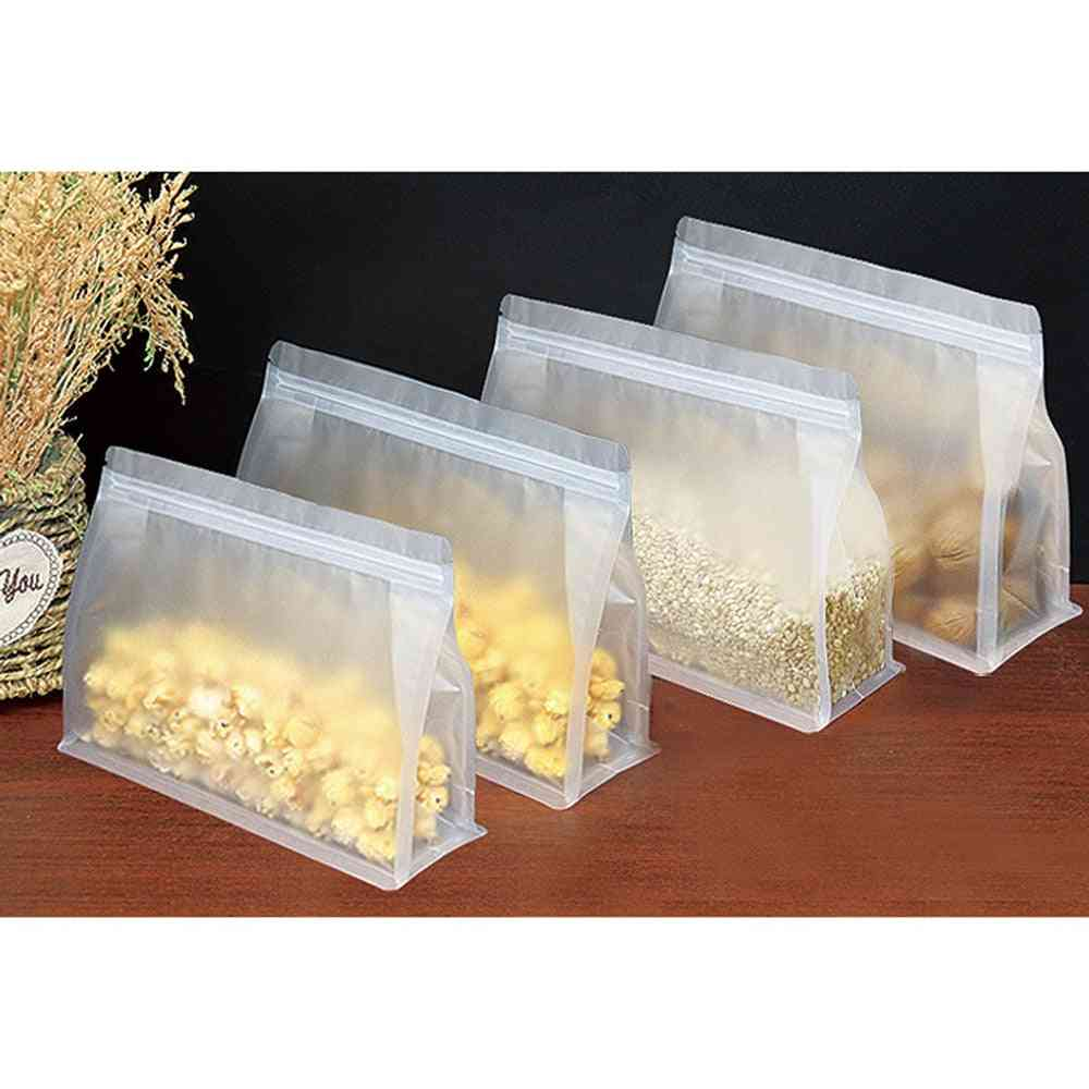 Self-sealed Thick Food Storage Bag & Stand Up Transparent Package Carry Bags
