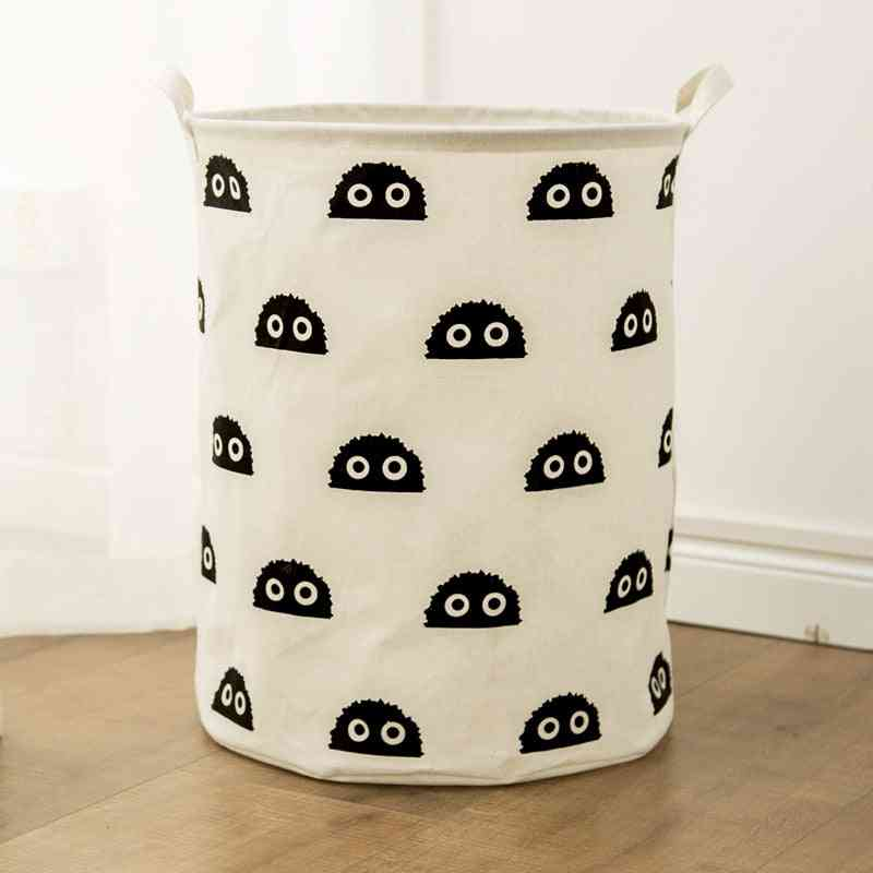 Large Basket Cotton Waterproof Dirty Clothes Storage Box