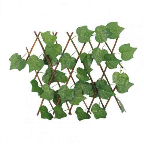 Artificial Plant Fence Sunfast Plastic Realistic Wooden Simulation Barrier