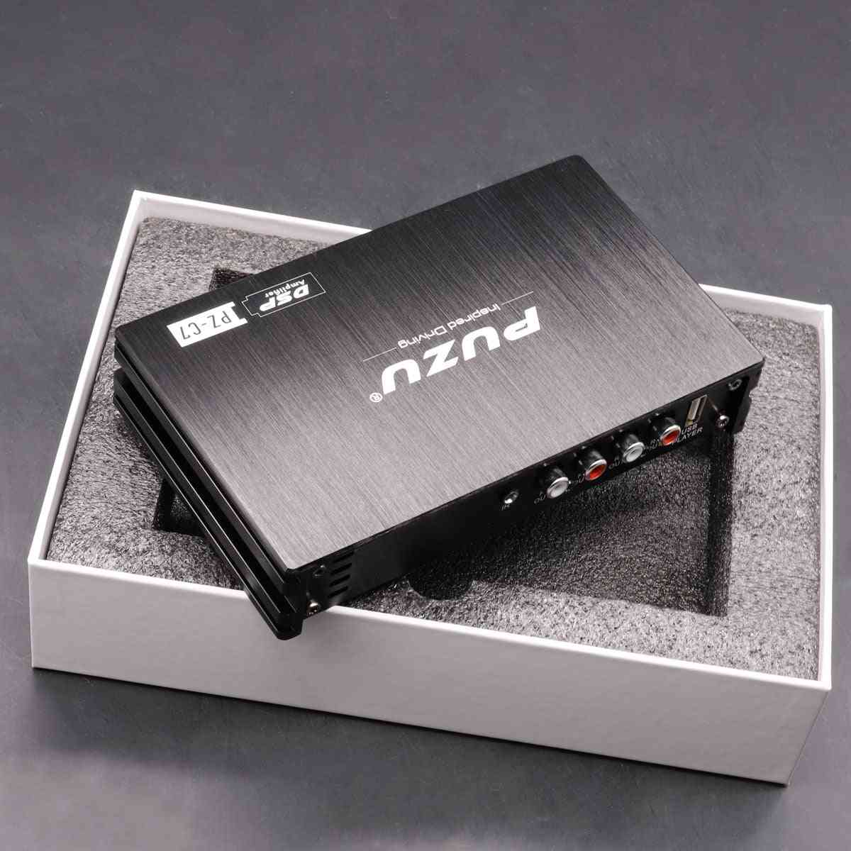 Car Dsp Amplifier With Factory Cable, Subwoofer Rca Output Audio Processor