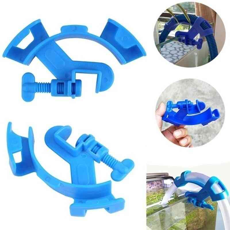 Aquarium Filtration Holder Water Pipe For Mount Tube Tank Water Pipe Fixing Clamp