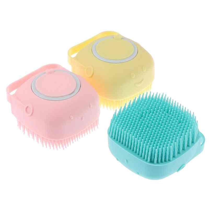 Silicone Bath Brush Scrubber Dispenser
